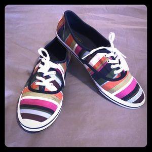 Coach multi color striped sneaker
